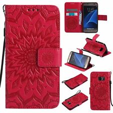 Flip Leather Wallet Stand Sun Flower Case Cover For Samsung Galaxy S8 S9+ Note 8