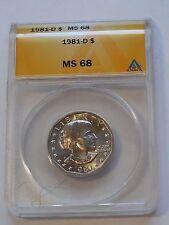 1981 D - Susan B Anthony SBA Dollar * ANACS MS 68
