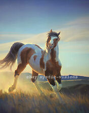 Nancy Glazier AUDACIOUS Signed & Numbered w/coa Paint Horse palamino Art Print