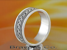 SIZE 12 Bravo & Co. Solid 925 Sterling Silver Surfer Gift Band Men Ring R-223