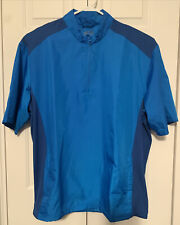 Adidas Mens Size Xl Golf Jacket Half Zip Shirt Sleeve Pullover Teal