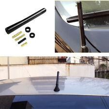 "4.7"" Vehicle Car Radio FM Carbon Fiber + Metal Antenna Aerial with 4x Stud Bolts"