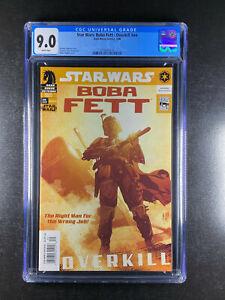 Star Wars Boba Fett Overkill nn CGC 9.0 Dark Horse 03/06 Adam Hughes Cover