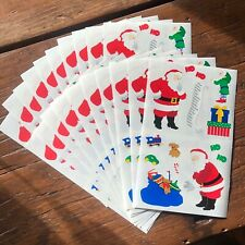20 sheets Mrs Grossmans Santa Stickers Christmas Elf Presents Sack List Names