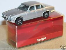 MICRO HERPA HO 1/86 1/87 JAGUAR XJ 6 12 GRIS CLAIR METAL in BOX 1