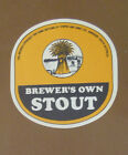 VINTAGE SOUTH AUSTRALIAN BEER LABEL - COOPERS BREWERS OWN STOUT