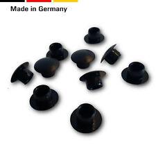 100 Abdeckkappen/Abdeckstopfen/Lochkappen  Bohrung 2,5-6mm, Kunststoff, Schwarz
