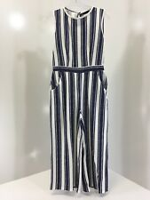 240d9b3d42ff Boohoo Petite High Neck Striped Jumpsuit Color Navy/White Size US8/UK12 NWT  +