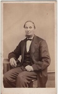 Man Neckbeard Beard Albany NY Antique CDV Photo Abbott Photographer