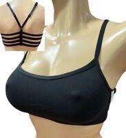 Victorias Secret Sexy Cotton Strappy Unlined Bralette Bra Black size Large
