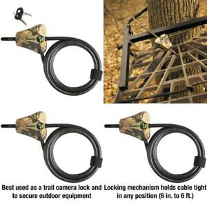Master Lock 8418D Python Cable Lock With Key, 6 Ft. Long, Camouflage