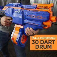 Nerf Infinus Motorized N Strike Elite 30 Dart Drum Blaster New Kids Toy Gun Gift