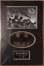Batman Gold Foil Bat Seal Signed Bob Kane Creator of Batman with A.A.C. (b)