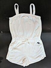 ABERCROMBIE Kids Girl's White Terry Cloth Romper 13/14 EUC