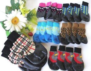 USA SELLER Pet WaterProof Rain Shoes Boots Socks Non-slip Rubber SMALL & BIG Dog