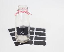 16 Mini Blackboard Stickers Chalkboard Labels Wedding Favour Jar Lolly Buffet
