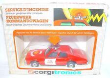 Corgi Toys 1:36 CHEVROLET CAPRICE FIRE CHIEF Electronic Diecast Car Batt.Op. MIB