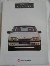 Vauxhall Carlton range brochure 1992 Ed 1