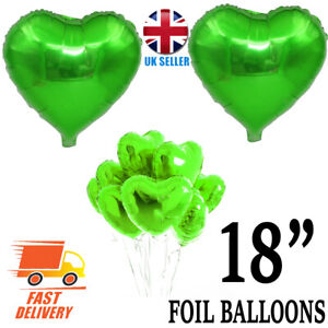 "18"" LOVE HEART SHAPE Foil Air/Helium Balloons Wedding Party Birthday Decoration"