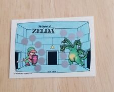 1989 Nintendo Video Game scratch off card The Legend Of Zelda  3 headed dragon