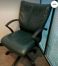 Leather High Back Green Executive Office Computer Chair