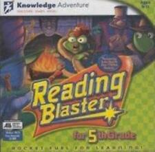 Reading Blaster for 5th Grade Pc Mac Cd learn read speech parts words context