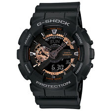 Casio G-Shock GA110RG-1A Rose Gold and Black Face Matte Black Resin Men's Watch