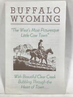 1962 BUFFALO WYOMING The West's Most Picturesque Little Cow Town Travel Guide