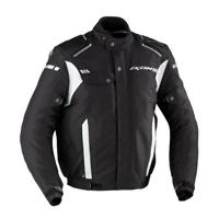 Ixon Shiroki Mens Black White Textile Armoured Motorcycle Jacket New