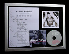 SHERYL CROW If It Makes You Happy TOP QUALITY CD FRAMED DISPLAY+FAST GLOBAL SHIP