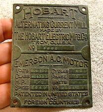 Brass Industrial HOBART Coffee Mill Nameplate Machine Age Steampunk 1897-1900?