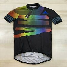 adidas Adistar Pride Rainbow Cycling Form Fitting Jersey Fj6571 Mens Size Large