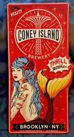 Coney Island Brewing Company Mermaid Metal Tacker Craft Beer Sign Brewery New!!!