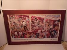 LeRoy Neiman F.X. McRory's Whisky Bar / HAND SIGNED Triple Signatures