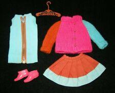 Vintage Skipper QUICK CHANGE 1968 mod fashion #1962 dress sweater skirt boots