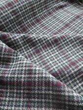 Scottish Tweed Pure New Wool Fabric- Estate Check- Heather - By the Meter