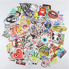 100x Aufkleber Retro Doodle Sticker Set Sponsoren Auto Stickerbomb Laptop Handy
