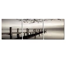 Picture Painting Canvas Print Wall Art Home Decor Poster Landscape Bridge Gray