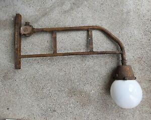 alte Hoflampe Außenlampe Ausleger Industriedesign