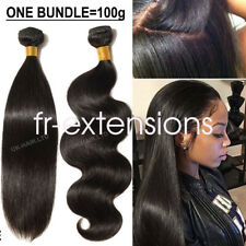 Unprocessed Brazilian Peruvian Virgin Human Hair Extension Thick 100g Weave REMY