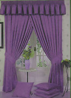 Lauren Fully Lined Pencil Pleat/Tape Curtains Marble Effect Lilac