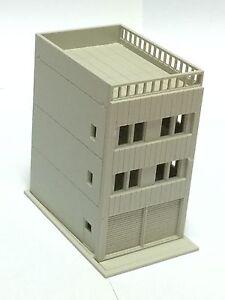 Outland Models Railway Modern 3-Story House w Garage Unpainted N Gauge 1:160