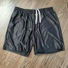 Athletic Works Black Polyester Shorts Men's 2XL