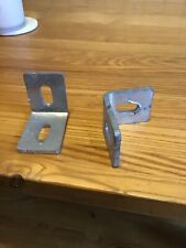 40mm Galvanised angle cleats 60mm X 50mm.   25mm X 12mm Slotted Holes