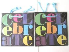 3 Papyrus Celebrate Gift Bags Black Glitter Small Size Make Me an Offer