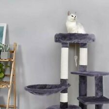 Cat Scratching Board Post Tree Climbing Frame with Cradle Cats Tower Pet Toy