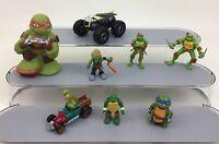 Teenage Mutant Ninja Turtles 8pc Lot Toy Figures TMNT Turtle Toys Playmates A3