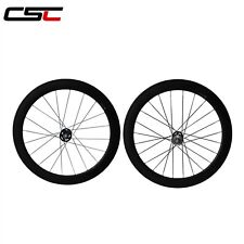CSC 60mm tubular track carbon wheelset/ fixed gear carbon wheels
