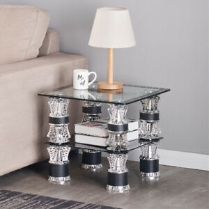 Modern Black White Nest of Tables Coffee Table Side End Table Home Living Room
