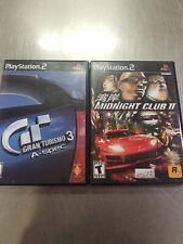 Gran Turismo 3 A-spec & midnight club 2 PlayStation 2 PS2 Video Games Lot Of 2